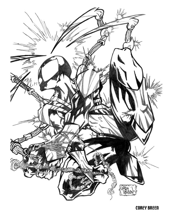 Iron Spider Man Coloring Pages Sketch Coloring Page  Iron Spider Man...